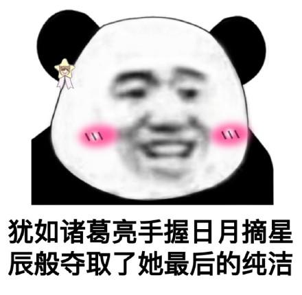 搞笑聊天斗图表情包第7弹-一套熊猫头污表情