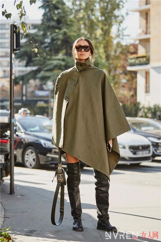 真正一秒提升气质,斗篷才是女人的战衣!