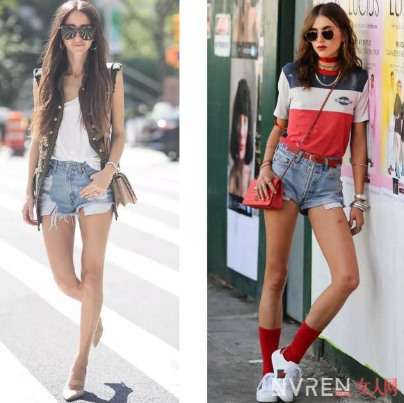 这三款牛仔短裤款式夏季穿了清凉还显腿长