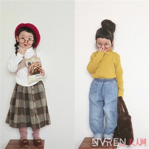 萌娃的个性穿搭风 把自家宝贝女打扮得非常可爱时髦