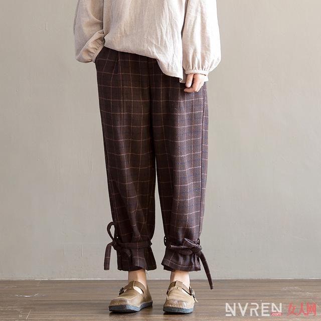 春天女生穿什么裤子好看 棉麻九分裤不挑腿型又文艺