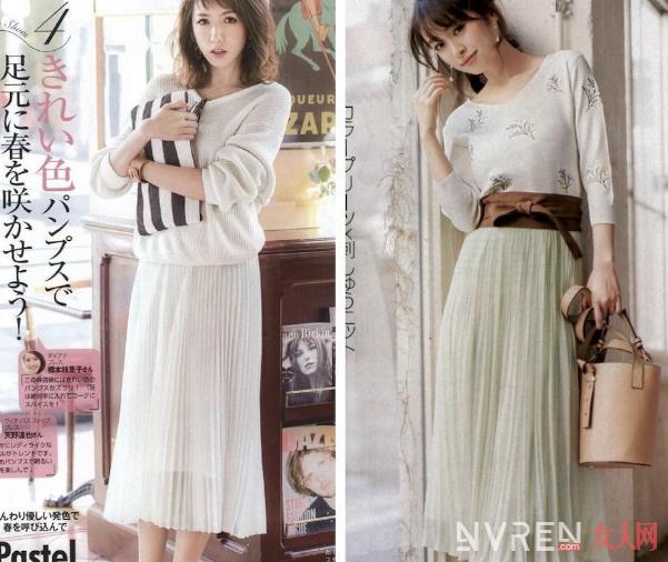 纱质百褶裙搭配哪些服饰 显得更加温暖而有趣