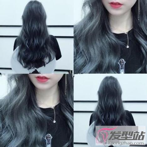女生染蓝灰色头发需要漂吗 换个潮流发色做时髦女孩