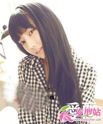瓜子脸适合的发型图片 韩国美女个人写真