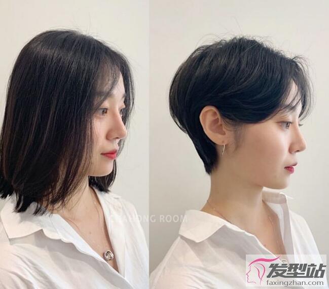 长发好还是短发好!整形级短发对比,不同脸型适合短发、剪完脸小一圈