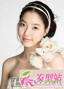 学韩国新娘盘头图片 超绝世美女